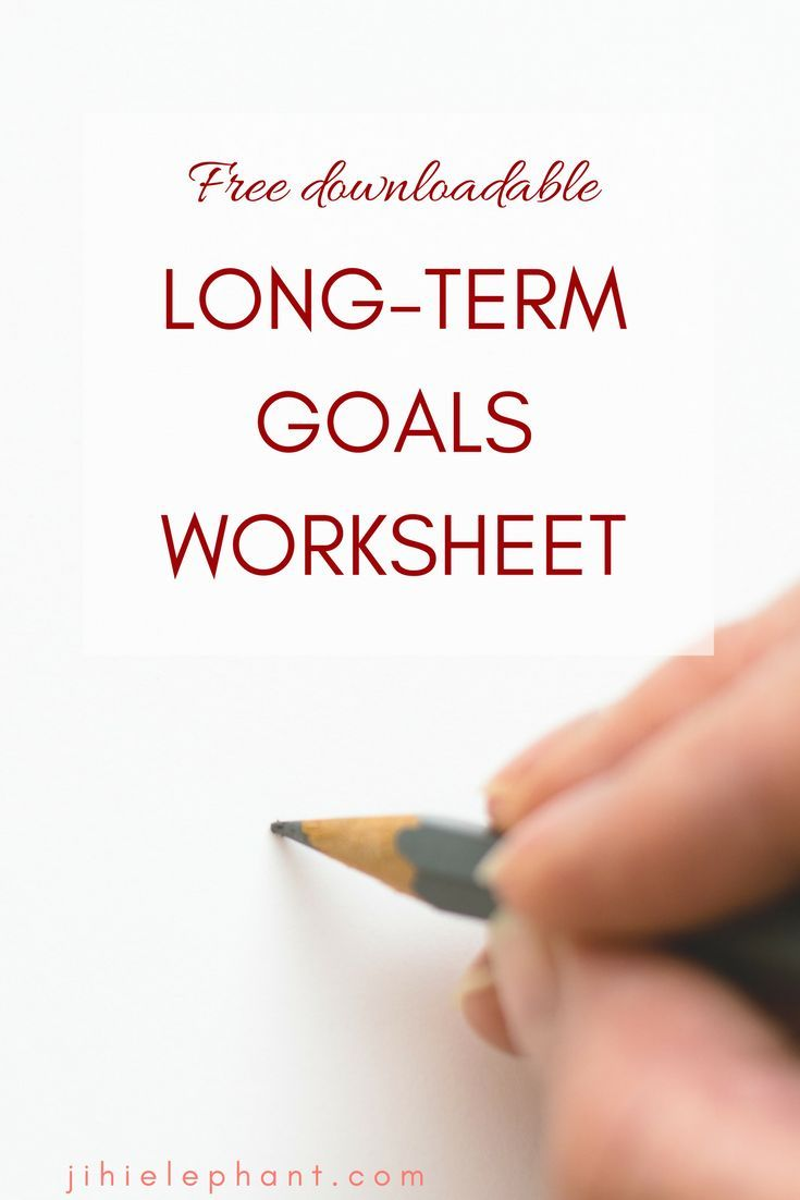 Get the Long-Term Goals worksheet and and ton more in my FREE Resource Library!!