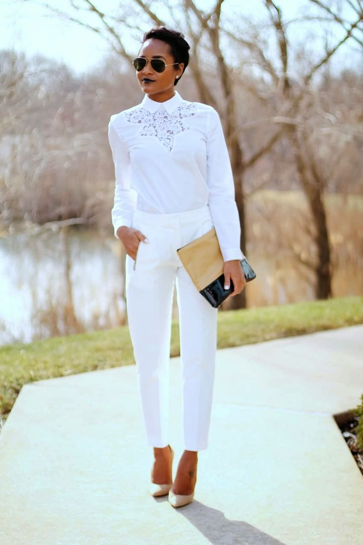 all-white-outfit #spring ...now go forth and share that BOW DIAMOND style ppl! Lol ;-) xx