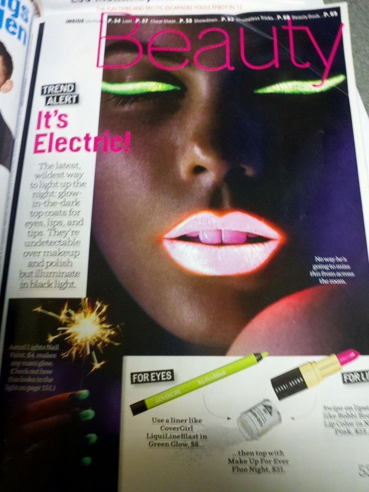 Interesting! Would be fun for a black light party