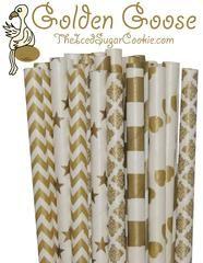 Golden Goose Paper Straws