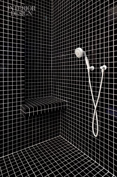 Tile in the master bathroom's shower is 2-inch-square. Photo by Michael Moran/Otto.