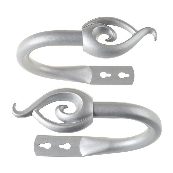 Portsmouth Home 2-pack Flame Curtain Holdback, Grey