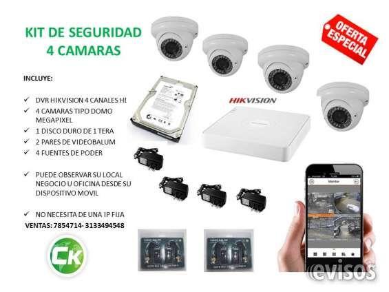 VENDO KIT DE SEGURIDAD 4 CAMARAS Y DVR  SUMINISTRO DE TODO TIPO DE CÁMARAS DE SEGURIDAD, OFERTA DE ..  http://bogota-city.evisos.com.co/vendo-kit-de-seguridad-4-camaras-y-dvr-id-446137