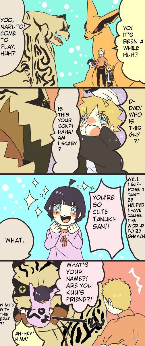 XD I totally believe this could happen. Hima is adorable ^^ | Naruto |  Naruto, Naruto uzumaki, Naruto comic