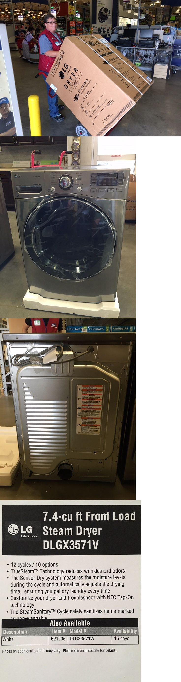 Washer and Dryer Sets 71257: Brand New Lg Dryer Front Load Gas (Local Pickup Delivery Only) -> BUY IT NOW ONLY: $700 on eBay!