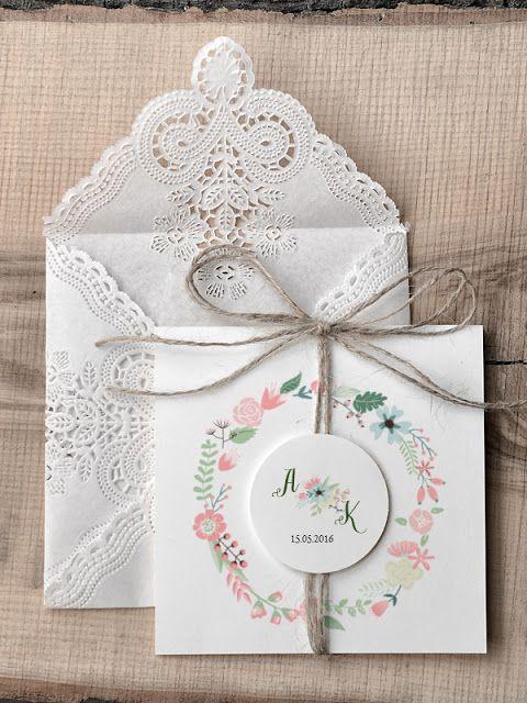 zaproszenia ślubne w stylu rustykalnym, gdzie kupić zaproszenia ślubne