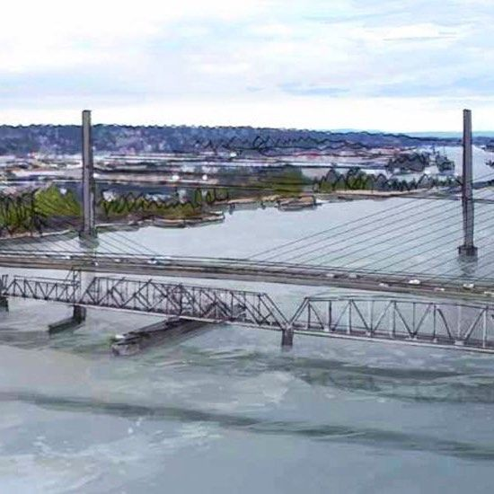 Construction of the new $1.37B Pattullo bridge will begin in the summer of 2019 and the new bridge will open in 2023. Once the new bridge is open the existing bridge will be removed. Consultant: Parsons  Read more about this project and Industry reaction to B.C. budget on https://canada.constructconnect.com/joc/news/economic/2018/02/industry-reaction-b-c-budget-mixed-bag  Image: Artists rendering of the proposed new Pattullo Bridge courtesy of Province of B.C.  #Engineering #Construction…