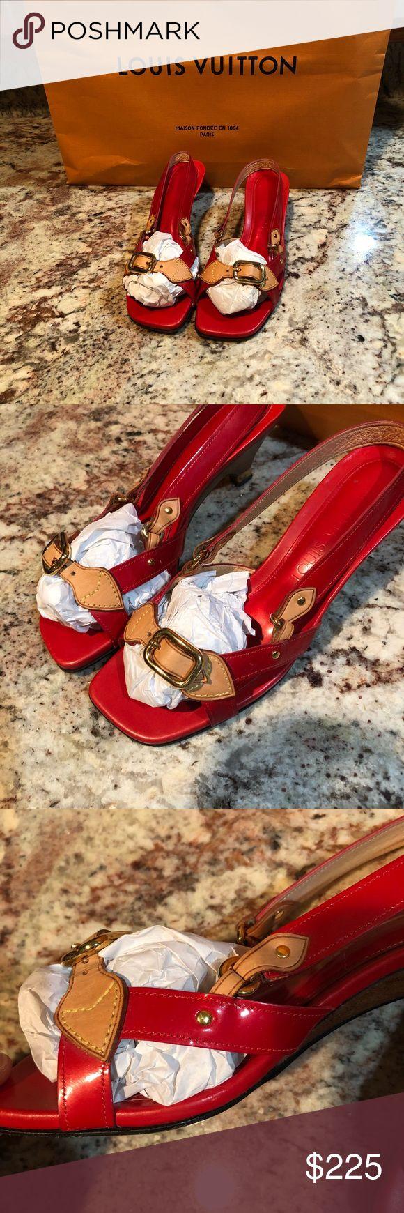 Louis Vuitton Kleid Sandale Diese wunderschönen roten Sandalen sind so bezaubernd! Das Leder …   – My Posh Picks