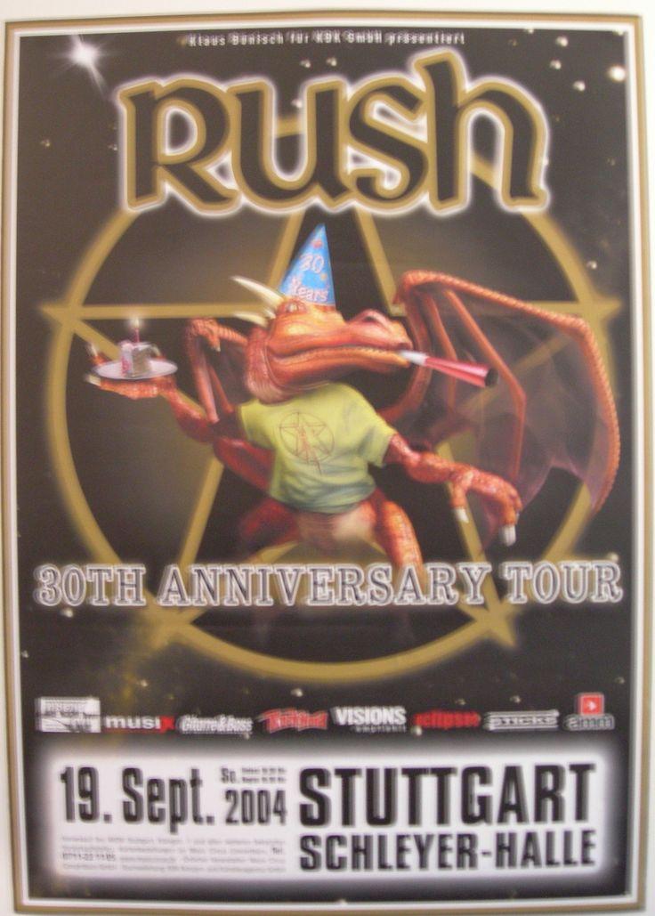 RUSH-CONCERT-TOUR-POSTER-2004-30TH-ANNIVERSARY-TOUR STUTTGART