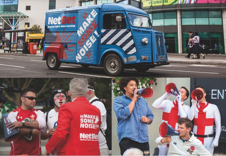 NetBet Make Some Noise Campaign.  From the blog post NETBET LOUD AND PROUD AT THE RUGBY WORLD CUP.