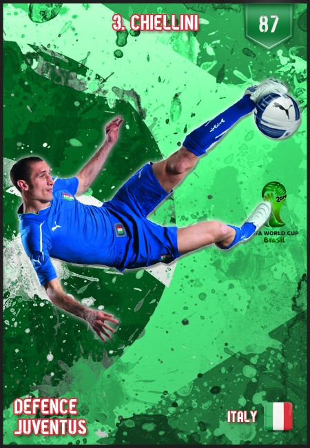 #Chiellini Italy FIFA World Cup 2014 Lineup