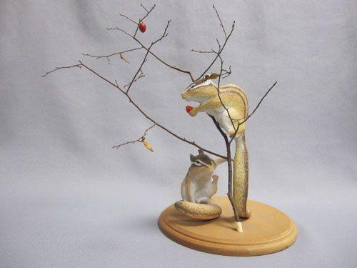 K.A.M.S【和-動物造形工房】-スカルピーで製作したハンドメイドの動物・木彫の根付等-