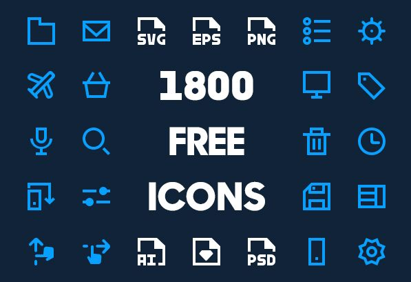 1800 Free Vector Icons for Web, iOS and Android UI Design #vectoricons…
