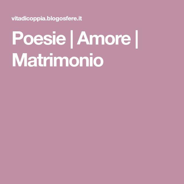 spesso Oltre 25 fantastiche idee su Poesie da matrimonio su Pinterest  FT79