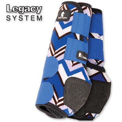 Classic Equine Legacy System Protective Boot Made of 100% virgin perforated neoprene that allows the leg to breathe and heat to escape so your horse's legs stay cooler. A round cut box stitched hook-a