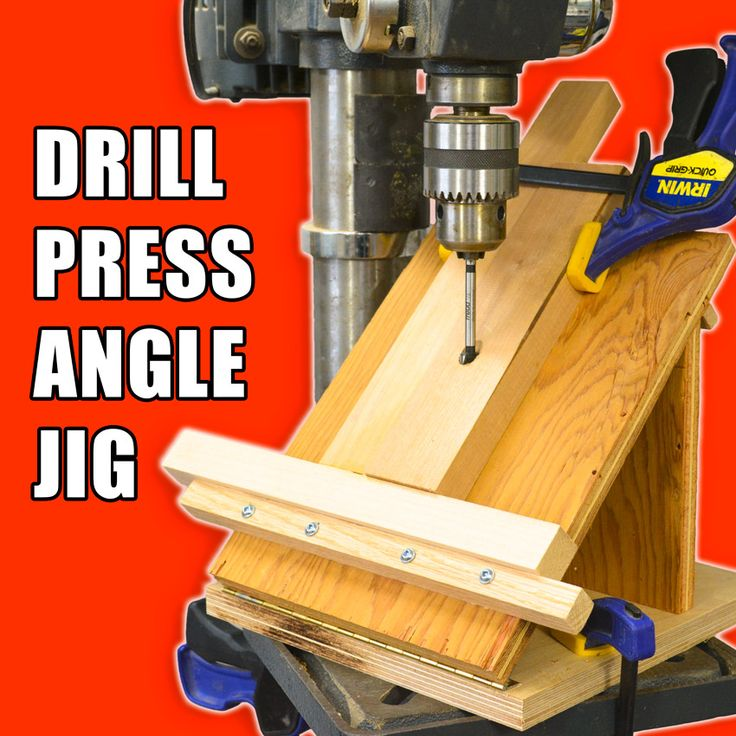 How to make a drill press angle jig for drilling holes on an angle. #woodworking