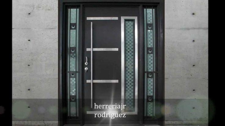 Puertas modernas exteriores hierro madera y crital - Puertas de casa ...