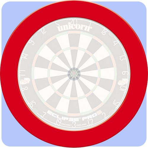 Unicorn Dartboard Surround - Pro Slimline - Heavy Duty - Plain Slim - Red - http://www.dartscorner.co.uk/product_info.php?products_id=16635
