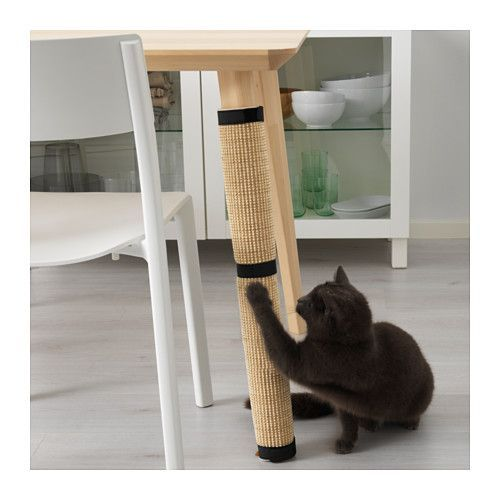 LURVIG Scratching mat  - IKEA  - With this cat scratching mat you quickly and easily transform an ordinary table leg into a scratching tree where your cat can both sharpen their claws and stretch.