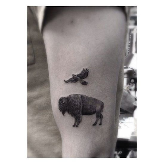 1000 ideas about buffalo tattoo on pinterest bison for Tattoos of buffaloes
