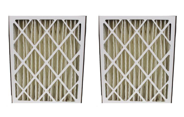 2 Merv-8 20x25x5 Amana Pleated HVAC Air Filters Fit MU2025