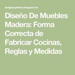 Diseño De Muebles Madera: Forma Correcta de Fabricar Cocinas, Reglas y Medidas