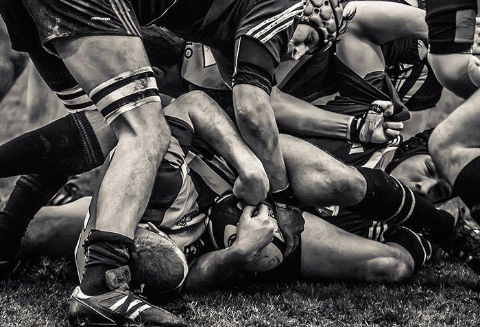 Rugby : action de jeu en tableau