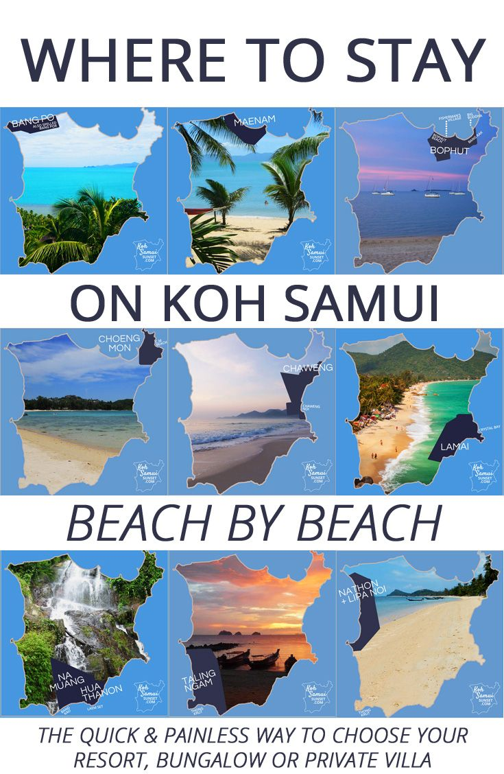 Where to stay on Koh Samui? The quick & painless way to choose your resort, beach bungalow or private villa // #KohSamui
