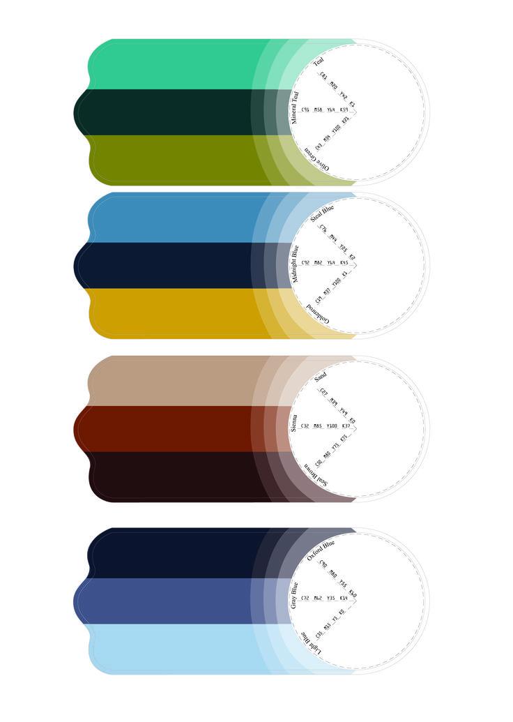 Swatch cards design (back).