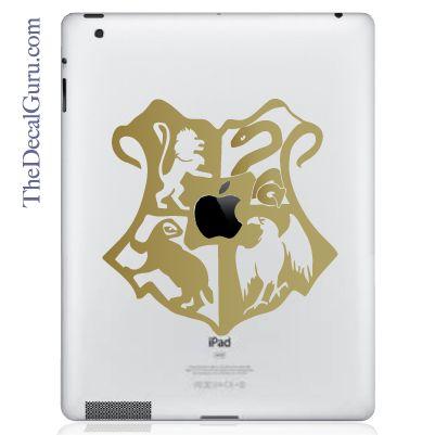 The Decal Guru  - Hogwarts Crest Large iPad Decal, $11.99 (http://thedecalguru.com/product/hogwarts-crest-large-ipad-decal/)