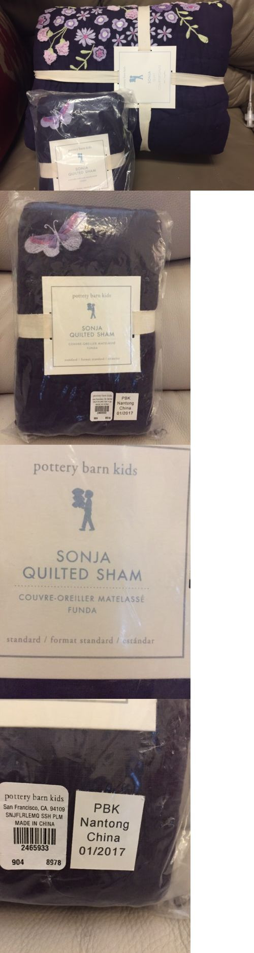 Pillow Shams 66729: 2Pc New Pottery Barn Kids Sonja Quilt And Standard Sham Purple Butterfly -> BUY IT NOW ONLY: $170.95 on eBay!