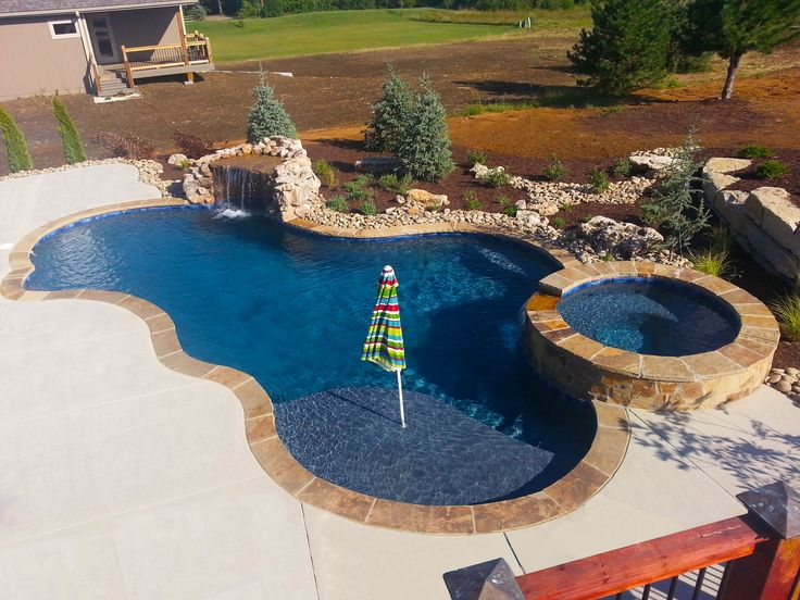 16 Best Semi Inground Pool Design Images On Pinterest Semi Inground Pools Backyard Ideas And