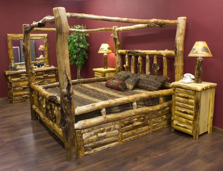 22 best Beds images on Pinterest | Head boards, Log bed and Beds