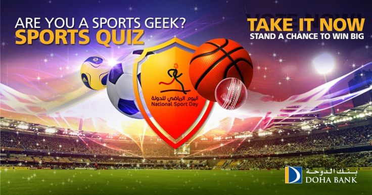 <h3>On the occasion of Qatar National Sports Day <strong>we will be running</strong> a <strong>Quiz Contest</strong> on sports knowledge. And if you crack the answers right, you will stand a chance to<strong> Win!</strong></h3>  So, what are you waiting f
