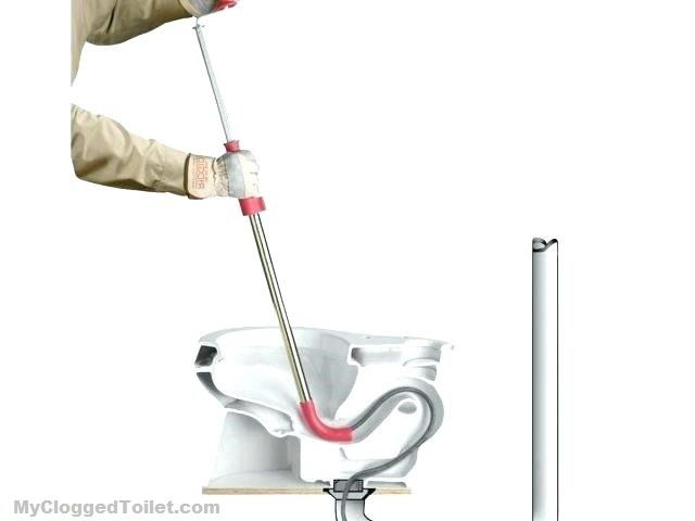 How To Use An Auger To Unclog A Toilet Clogged Toilet Unclog Toilet Cleaning