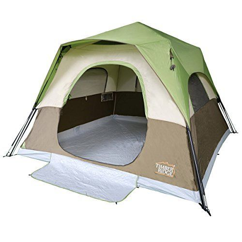 Timber Ridge 6 Person Instant Cabin Tent With Rain Fly