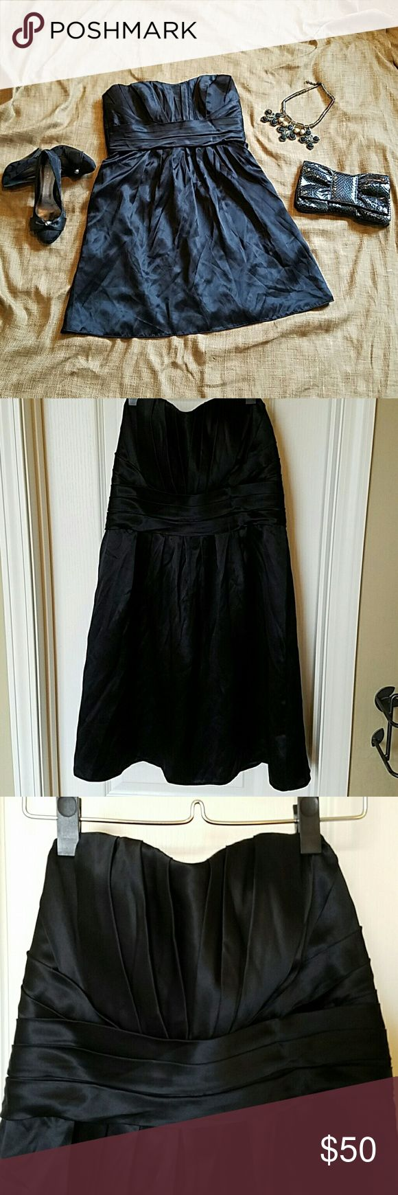 Priscilla of Boston Black Silk Cocktail Dress Ready for a cocktail party, ballet, or whatever you feel like dressing to the nines for. Excellent used condition.  Non smoking environment. Priscilla of Boston Dresses Strapless