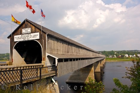 At 1282 feet long, the Hartland, Ontario, Canada, Covered Bridge is the longest covered bridge in the world. It was built in 1901 on July 4.