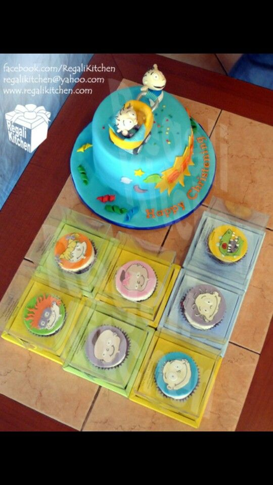 Rugrats Cake And Cupcakes Sweets Birthday Cake