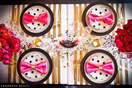 playful and glamours!: Polka Dots, Birthday Parties, Napkins, Wedding, Pink Bows, Parties Ideas, Bridal Shower, Dinners Parties, Kate Spade