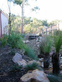 Dry river bed garden