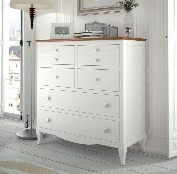 M s de 1000 ideas sobre armarios pintura de tiza en - Combinar muebles en color cerezo y blanco ...