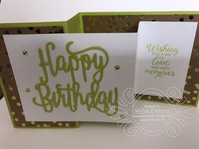 I wanted to share with you a birthday card I made over the weekend. It is one of the cards that we'll be making tonight at my Make and Take...