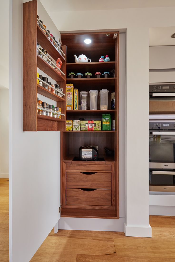 Best Bespoke Internal Larder Storage Internal Solid Walnut 640 x 480