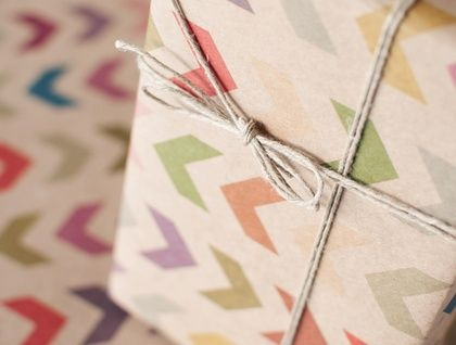 3 Sheets - Follow the Arrow - Wrapping Paper
