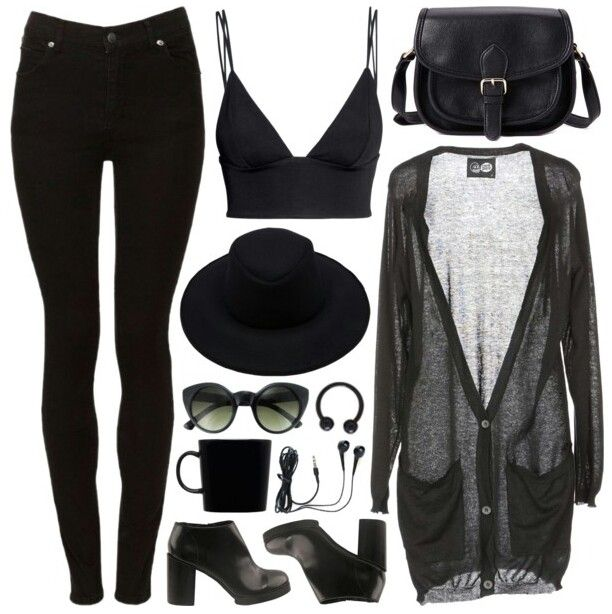 Pinterest: @MagicAndCats ☾ Nu goth fashion( luv the outfit - excluding the hat and shoes)