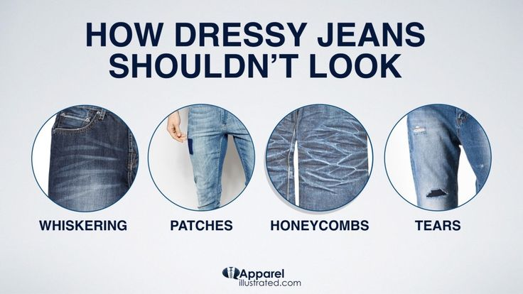 How Dressy Jeans Shouldn't Look.  From the blog post: http://apparelillustrated.com/shoes-to-wear-with-jeans/