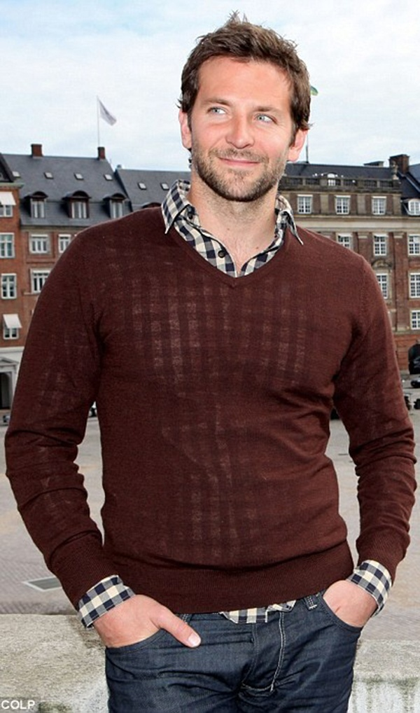 Bradley Cooper. you got it right with the sweater. Great look