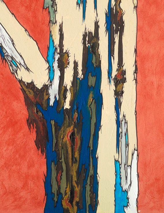 VERY LARGE Wall art oversized Extra large Print Canvas tree art orange blue modern landscape artwork & 123 best Extra large wall art; Oversized wall art; Original ...