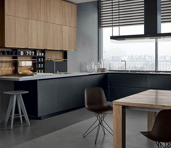 Черная кухня в интерьере. Фото